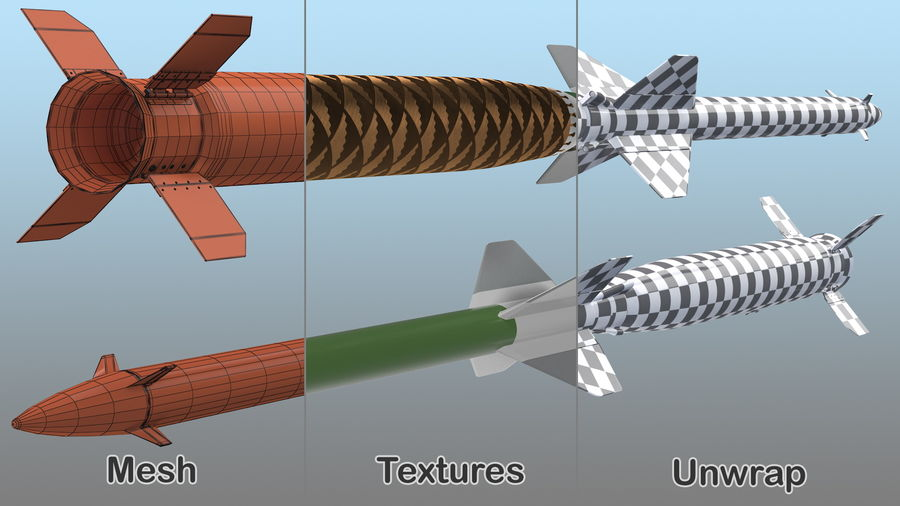Surface to Air Missile Generic royalty-free 3d model - Preview no. 13