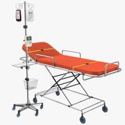 Ambulance Bed With IV Stand Modèle 3D 3d model