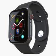 Apple Watch 4-serie Space Grey 3d model