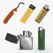 Lighters Collection 3 3d model