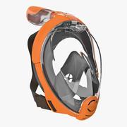 Volgelaats snorkelmasker algemeen 3d model