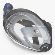 Maschera per lo snorkeling integrale per il viso 3d model