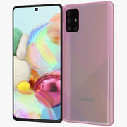 Samsung Galaxy A71 Pink 3d model