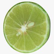 Green Lemon Slice 3d model