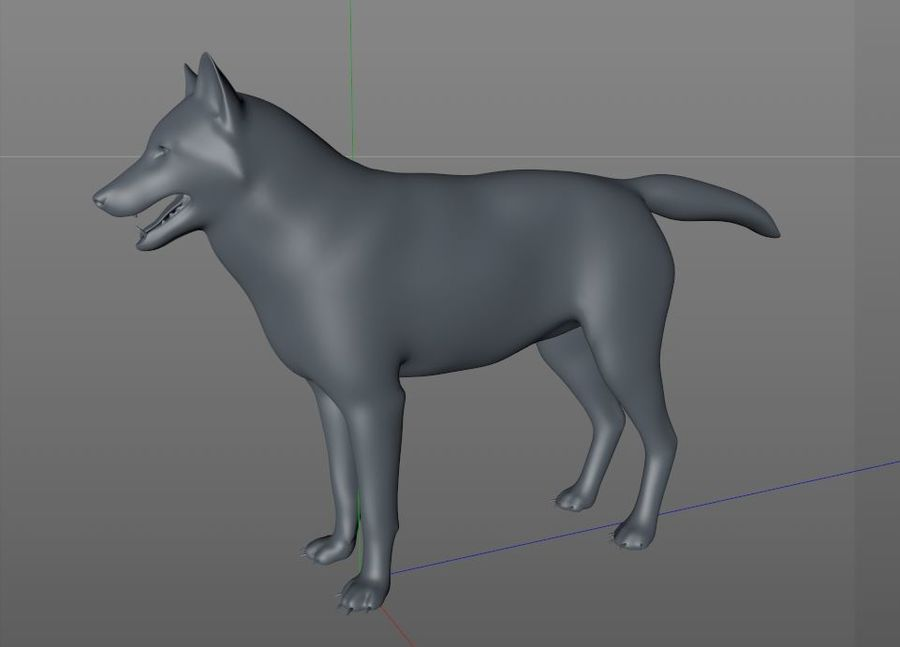Wolf Rigged royalty-free 3d model - Preview no. 17