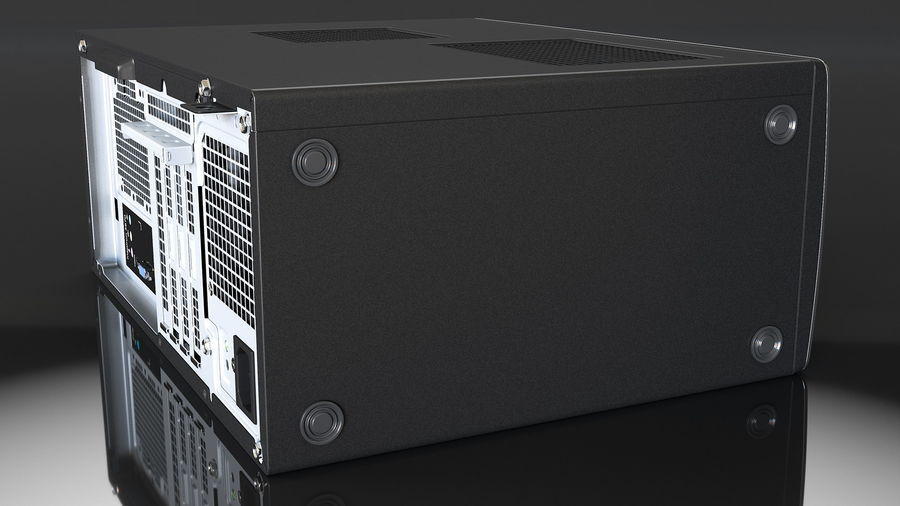 Dell Inspiron 3670 Minitower-Desktop-PC royalty-free 3d model - Preview no. 8