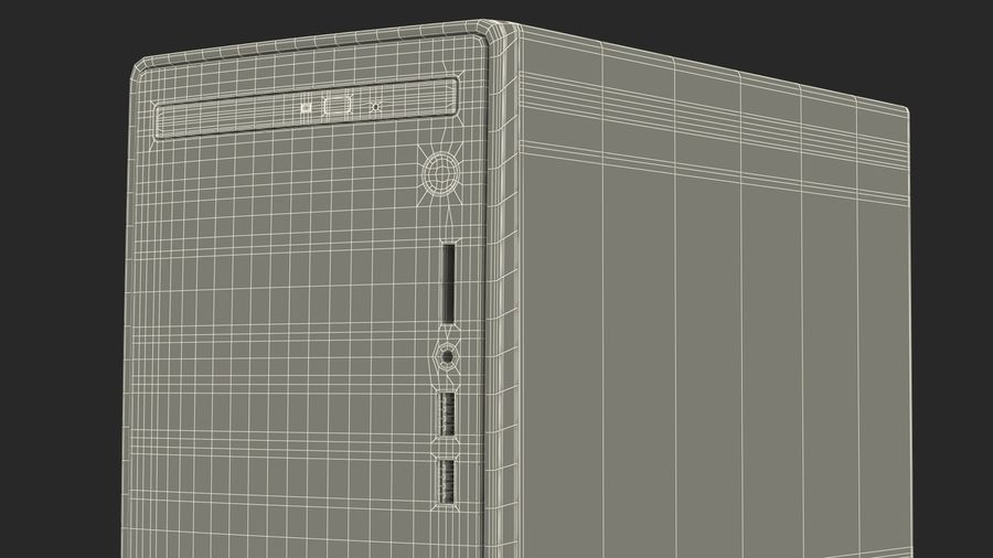 Dell Inspiron 3670 Minitower-Desktop-PC royalty-free 3d model - Preview no. 27