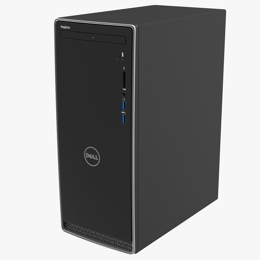 Dell Inspiron 3670 Minitower-Desktop-PC royalty-free 3d model - Preview no. 1
