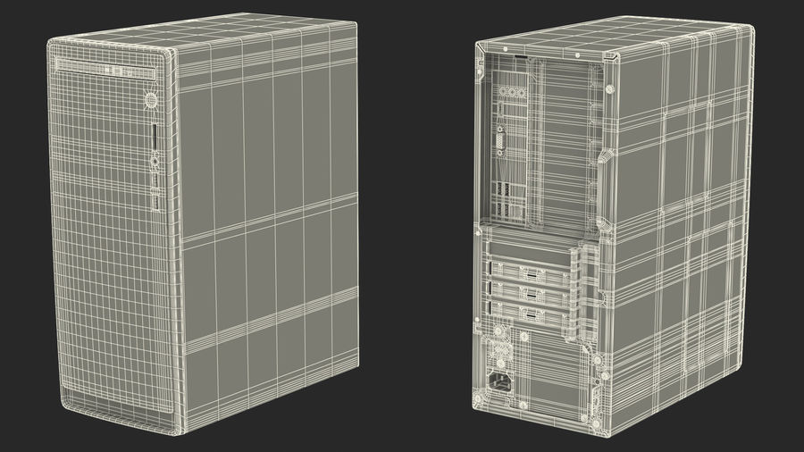 Dell Inspiron 3670 Minitower-Desktop-PC royalty-free 3d model - Preview no. 24