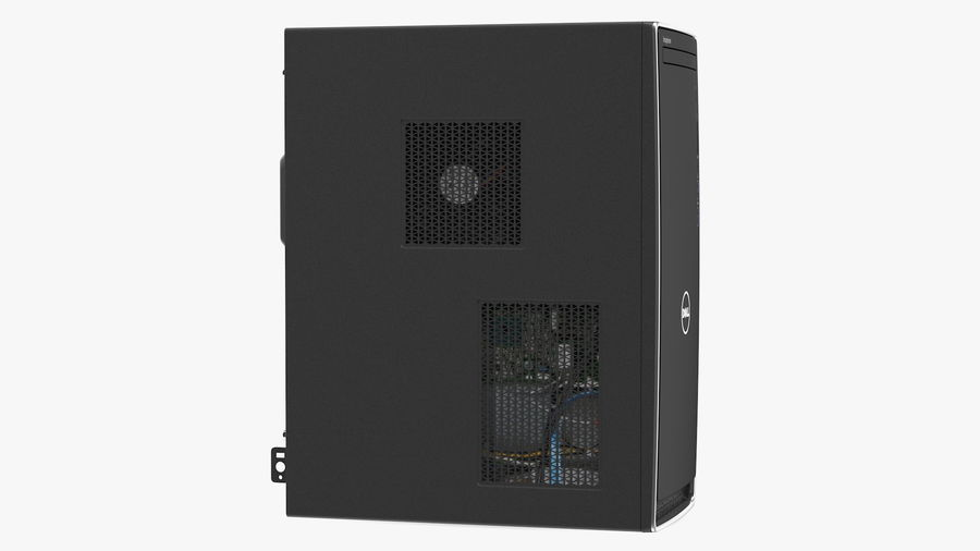 Dell Inspiron 3670 Minitower-Desktop-PC royalty-free 3d model - Preview no. 13