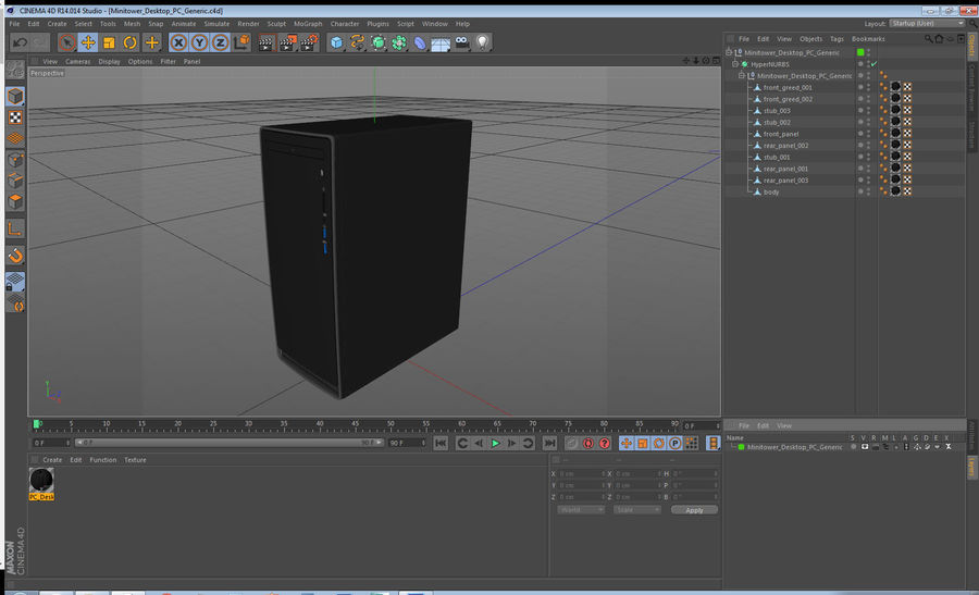 Minitower Desktop PC Generic royalty-free 3d model - Preview no. 25