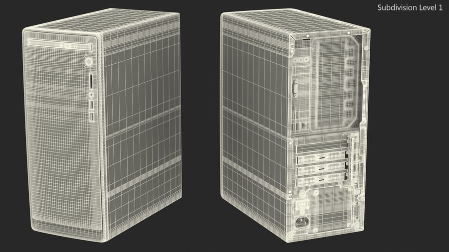 Minitower Desktop PC Generic royalty-free 3d model - Preview no. 21