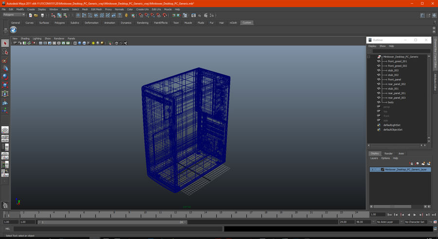 Minitower Desktop PC Generic royalty-free 3d model - Preview no. 24