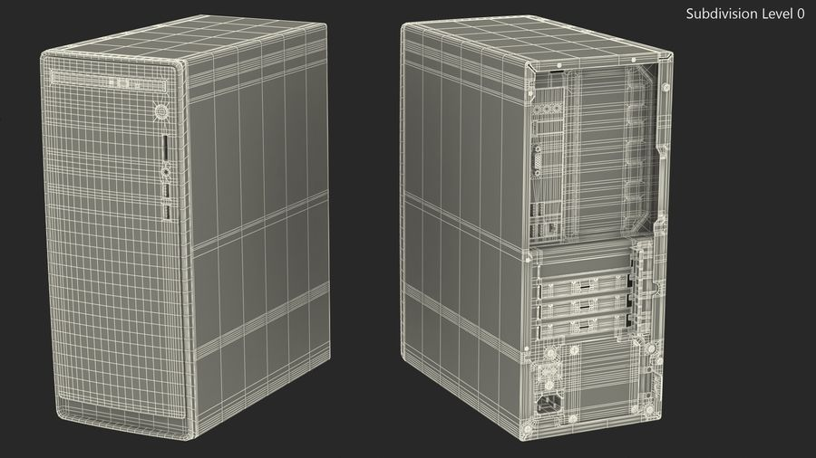 Minitower Desktop PC Generic royalty-free 3d model - Preview no. 20