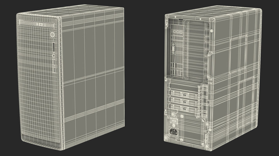 Minitower Desktop PC Generic royalty-free 3d model - Preview no. 27
