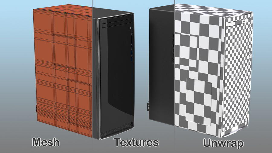 Minitower Desktop PC Generic royalty-free 3d model - Preview no. 19