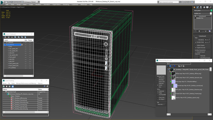 Minitower Desktop PC Generic royalty-free 3d model - Preview no. 26