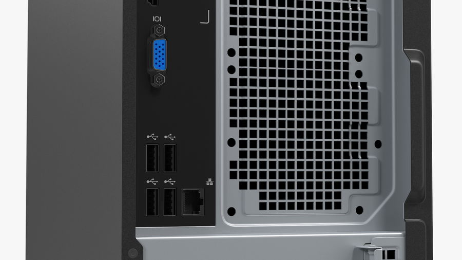 Minitower Desktop PC Generic royalty-free 3d model - Preview no. 14
