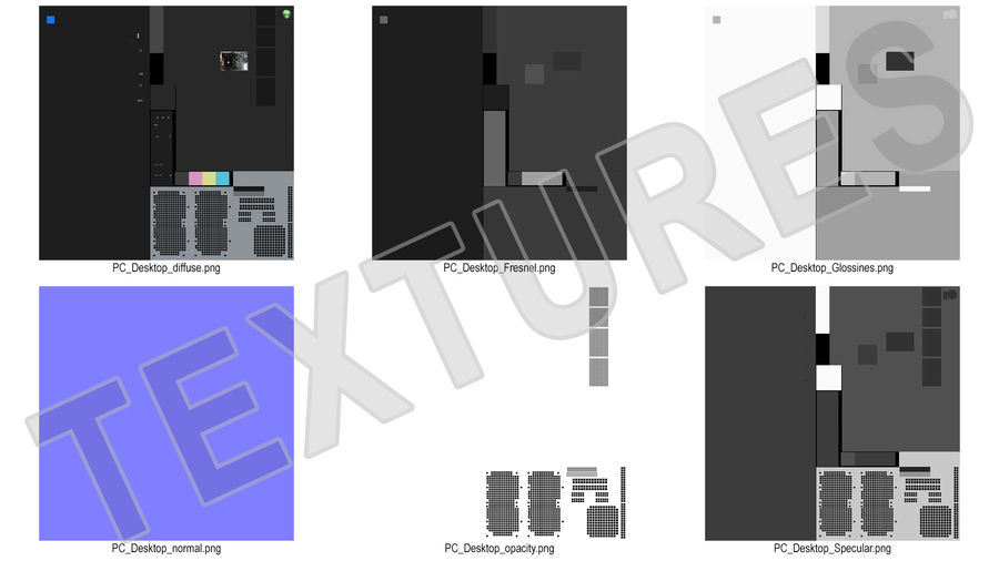 Minitower Desktop PC Generic royalty-free 3d model - Preview no. 23