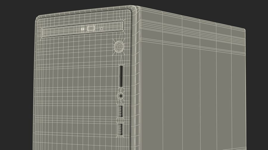 Minitower Desktop PC Generic royalty-free 3d model - Preview no. 30