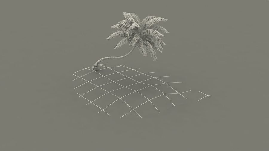 Desert Tropical Island with Palm Tree royalty-free 3d model - Preview no. 23
