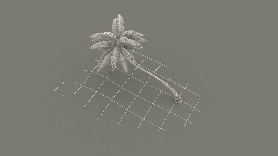 Desert Tropical Island with Palm Tree royalty-free 3d model - Preview no. 19