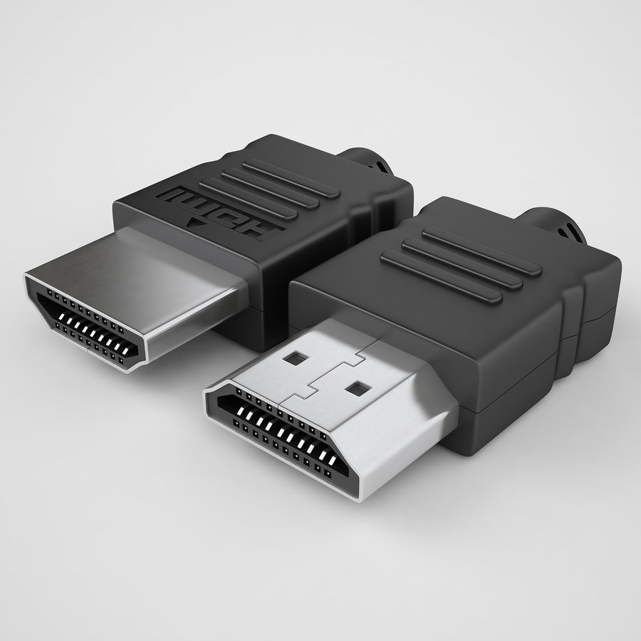 HDMI Port 02 royalty-free 3d model - Preview no. 2