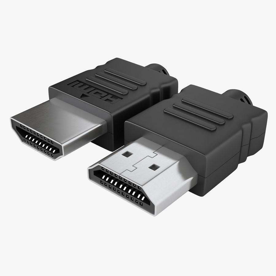 HDMI Port 02 royalty-free 3d model - Preview no. 1