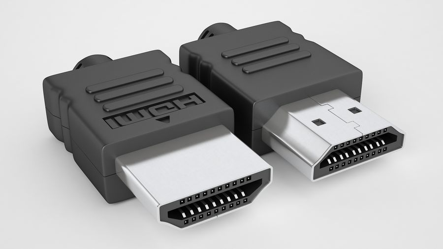 HDMI Port 02 royalty-free 3d model - Preview no. 7