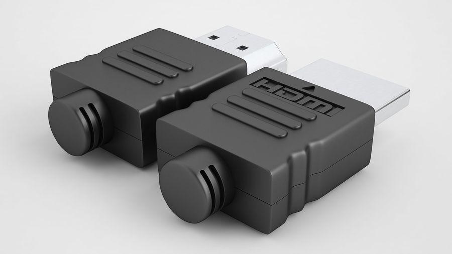 HDMI Port 02 royalty-free 3d model - Preview no. 9