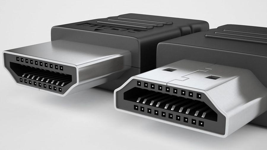 HDMI Port 02 royalty-free 3d model - Preview no. 15