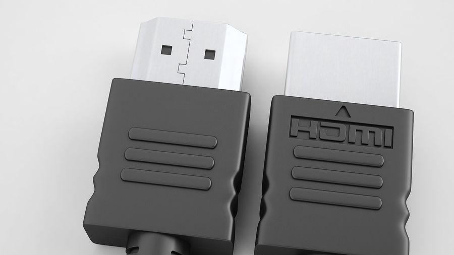 HDMI Port 02 royalty-free 3d model - Preview no. 13