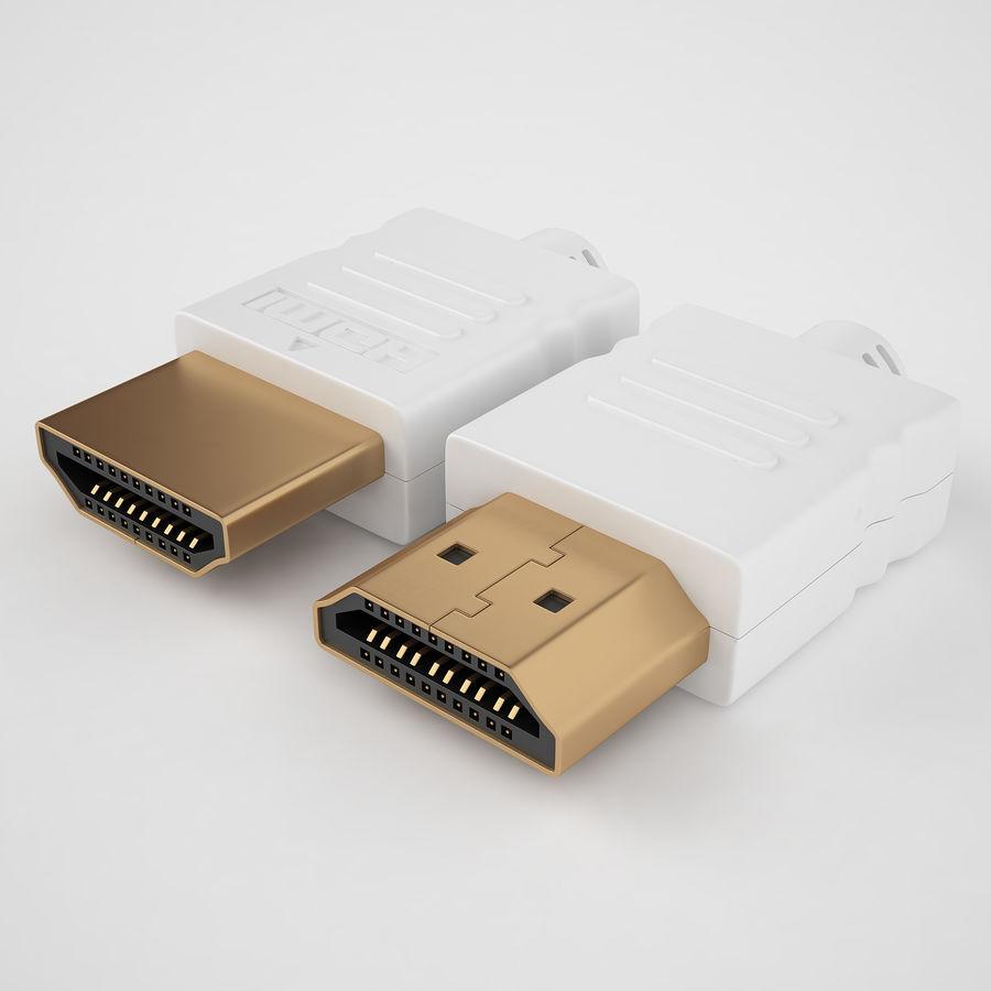HDMI Port 03 royalty-free 3d model - Preview no. 2