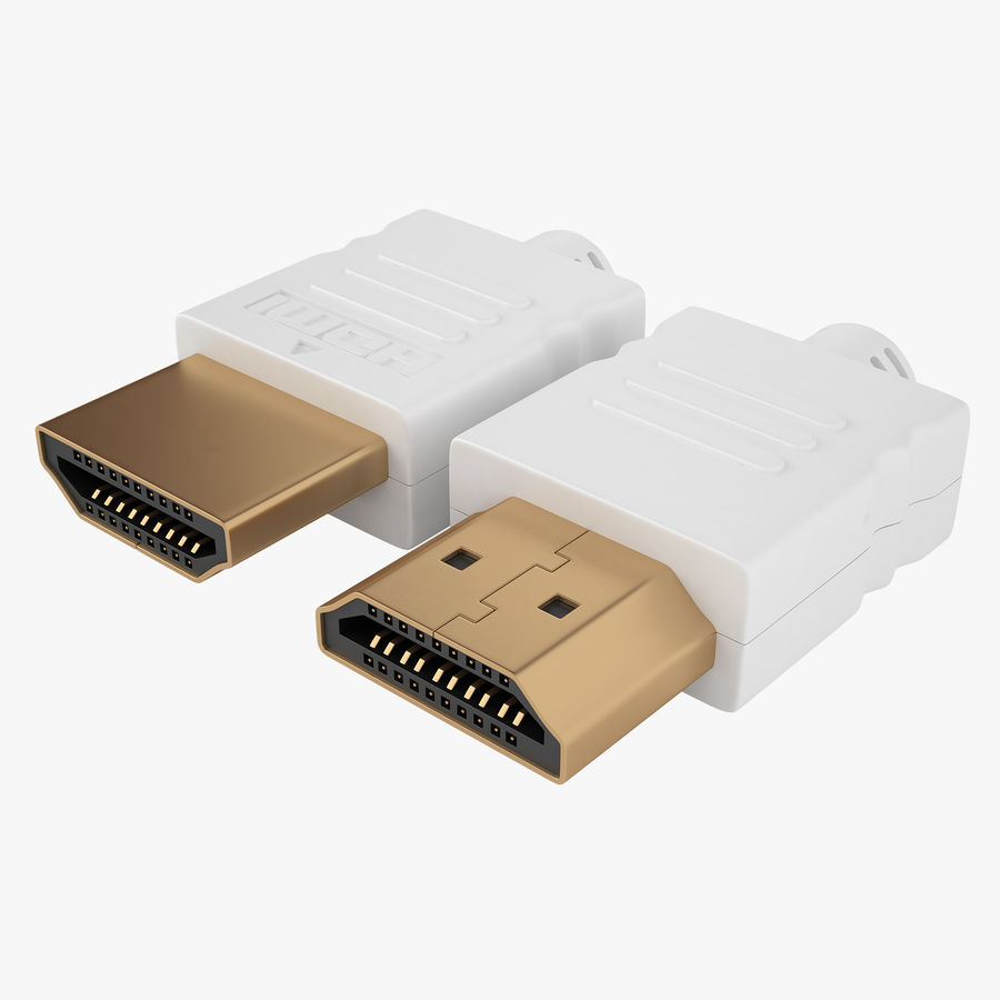 HDMI Port 03 royalty-free 3d model - Preview no. 1