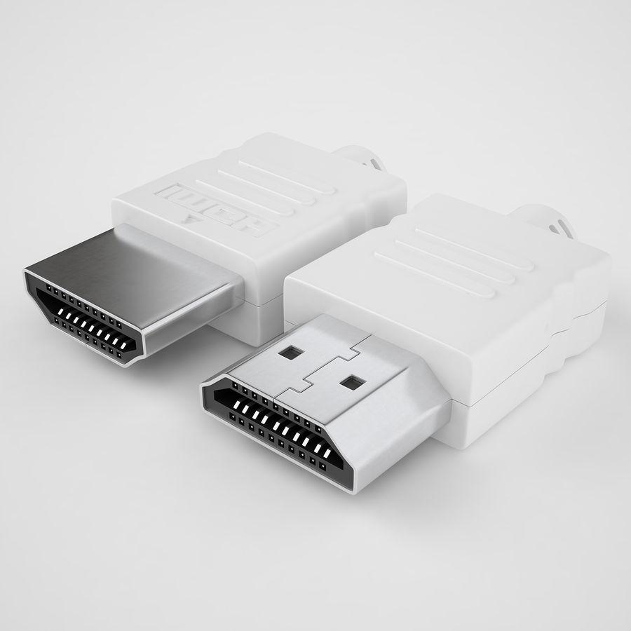 HDMI Port 04 royalty-free 3d model - Preview no. 2