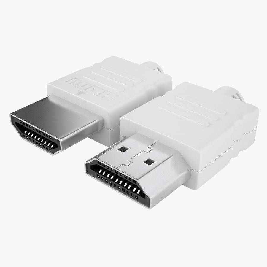 HDMI Port 04 royalty-free 3d model - Preview no. 1