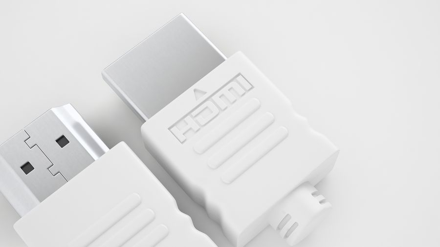 HDMI Port 04 royalty-free 3d model - Preview no. 11