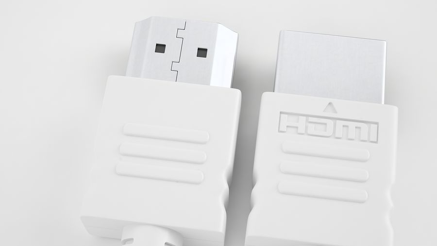 HDMI Port 04 royalty-free 3d model - Preview no. 13