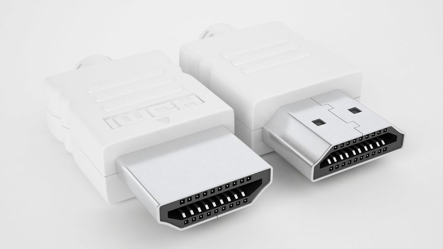 HDMI Port 04 royalty-free 3d model - Preview no. 7