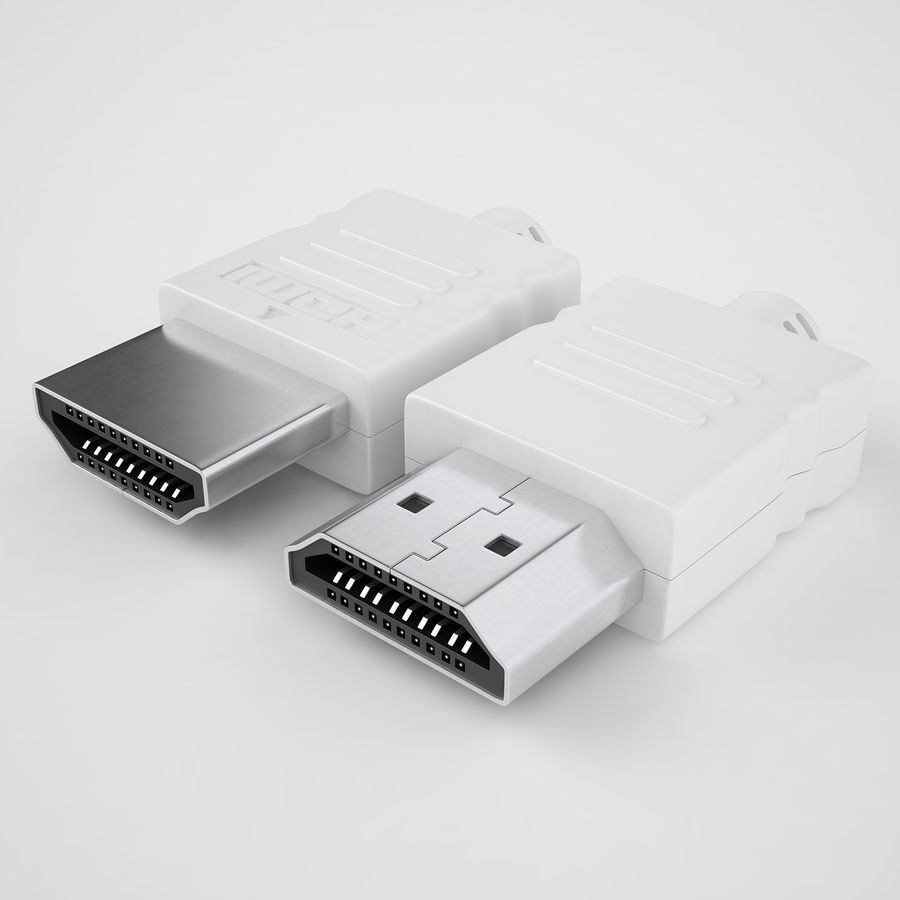 HDMI Port 04 royalty-free 3d model - Preview no. 2