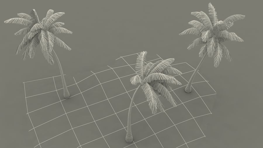 Small Island in Ocean with Palms royalty-free 3d model - Preview no. 20