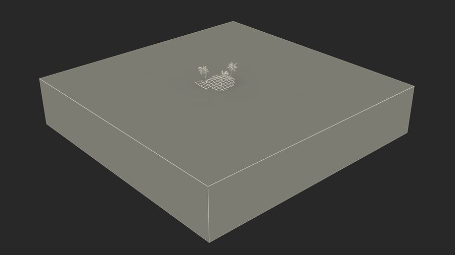 Small Island in Ocean with Palms royalty-free 3d model - Preview no. 17