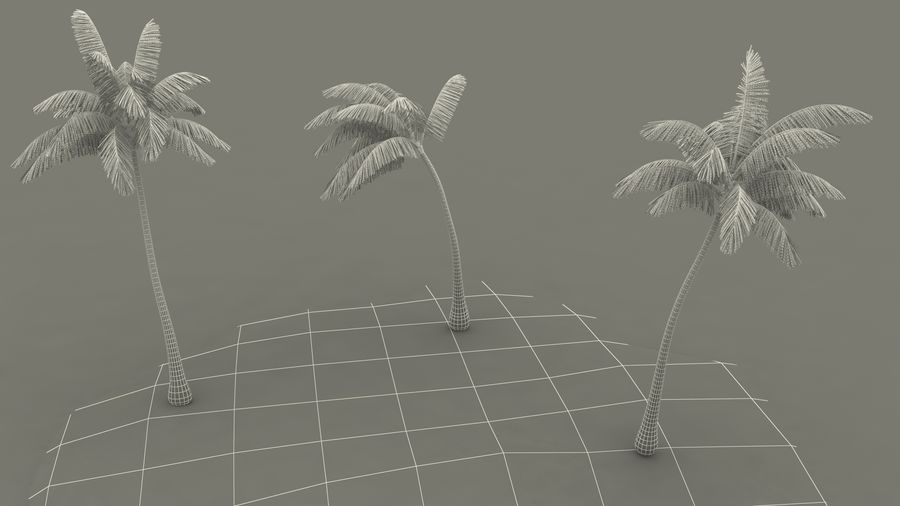 Small Island in Ocean with Palms royalty-free 3d model - Preview no. 21