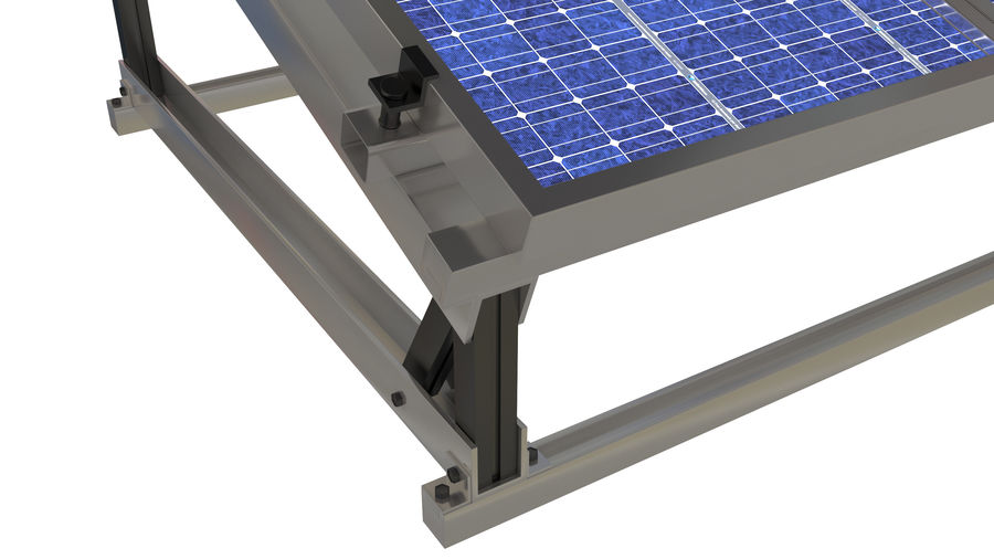 Solar Panel royalty-free 3d model - Preview no. 8