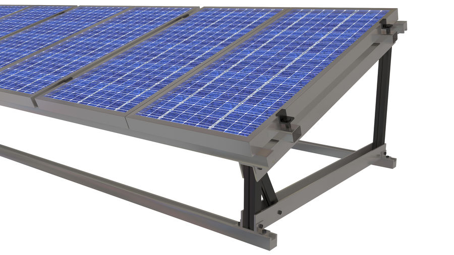Solar Panel royalty-free 3d model - Preview no. 3