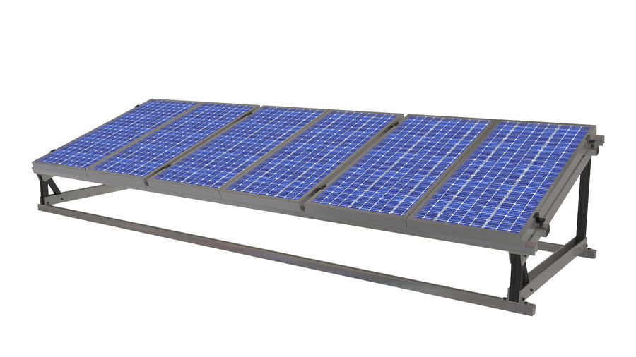 Solar Panel royalty-free 3d model - Preview no. 2