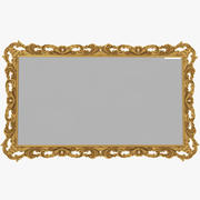 Baroque Carved Mirror 3d model