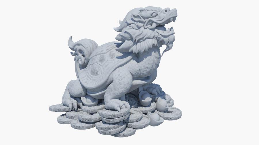 Turtle Dragon royalty-free 3d model - Preview no. 18