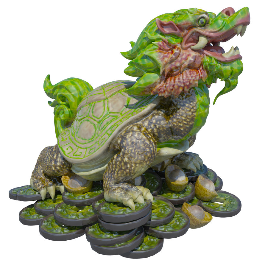 Turtle Dragon royalty-free 3d model - Preview no. 1