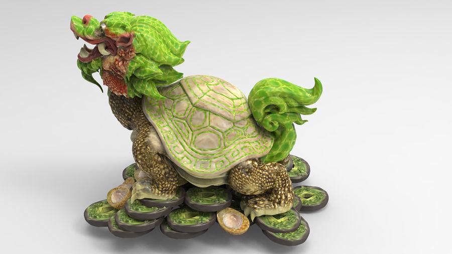 Turtle Dragon royalty-free 3d model - Preview no. 8